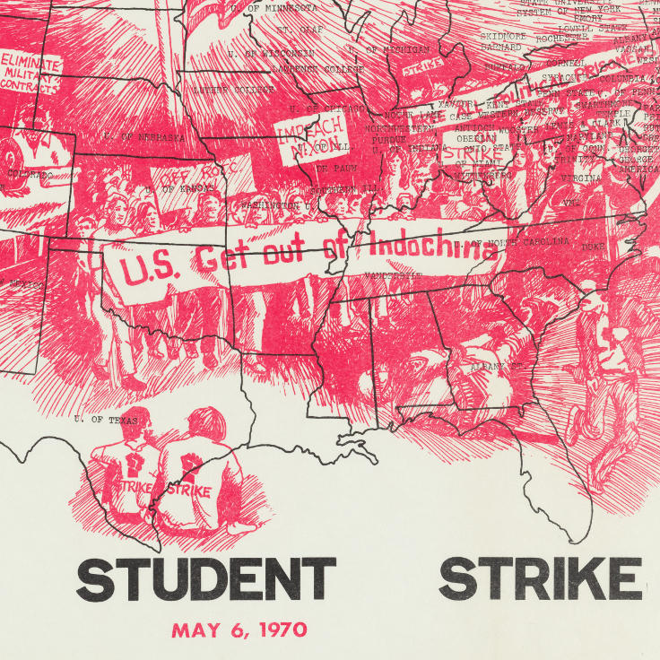 Map of the National student strike, April 3 Movement (1970)