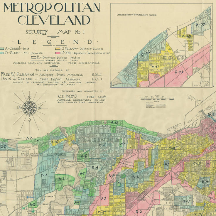 """Metropolitan Cleveland Security Map No 1"" (1936)"