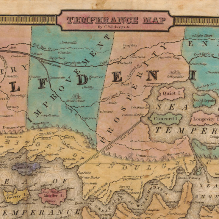 "John Christian Wiltberger, ""Temperance Map"" (1838)"
